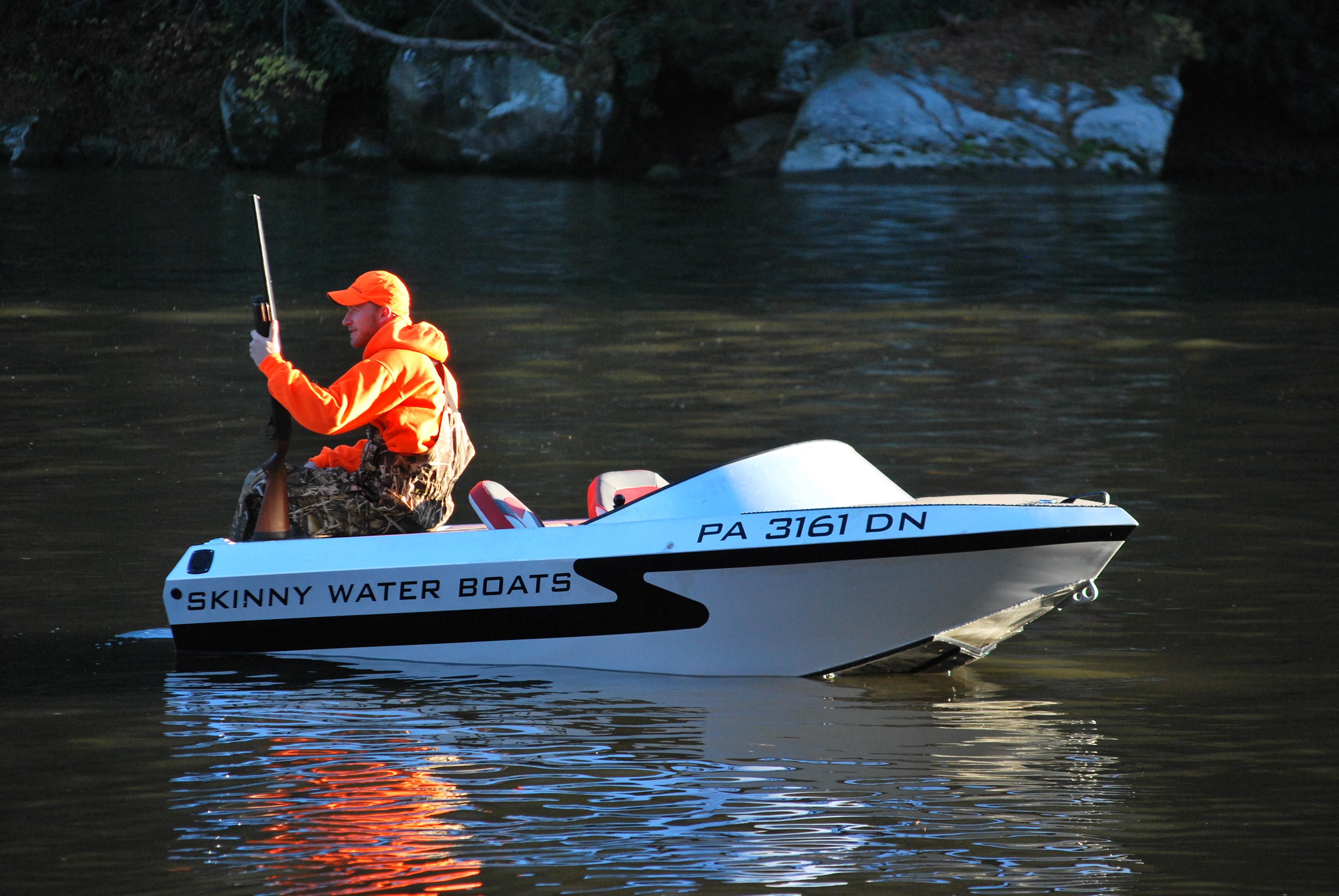 Small Jet Boats >> Skinny Water Boats Compact Mini Aluminum Jet Boats