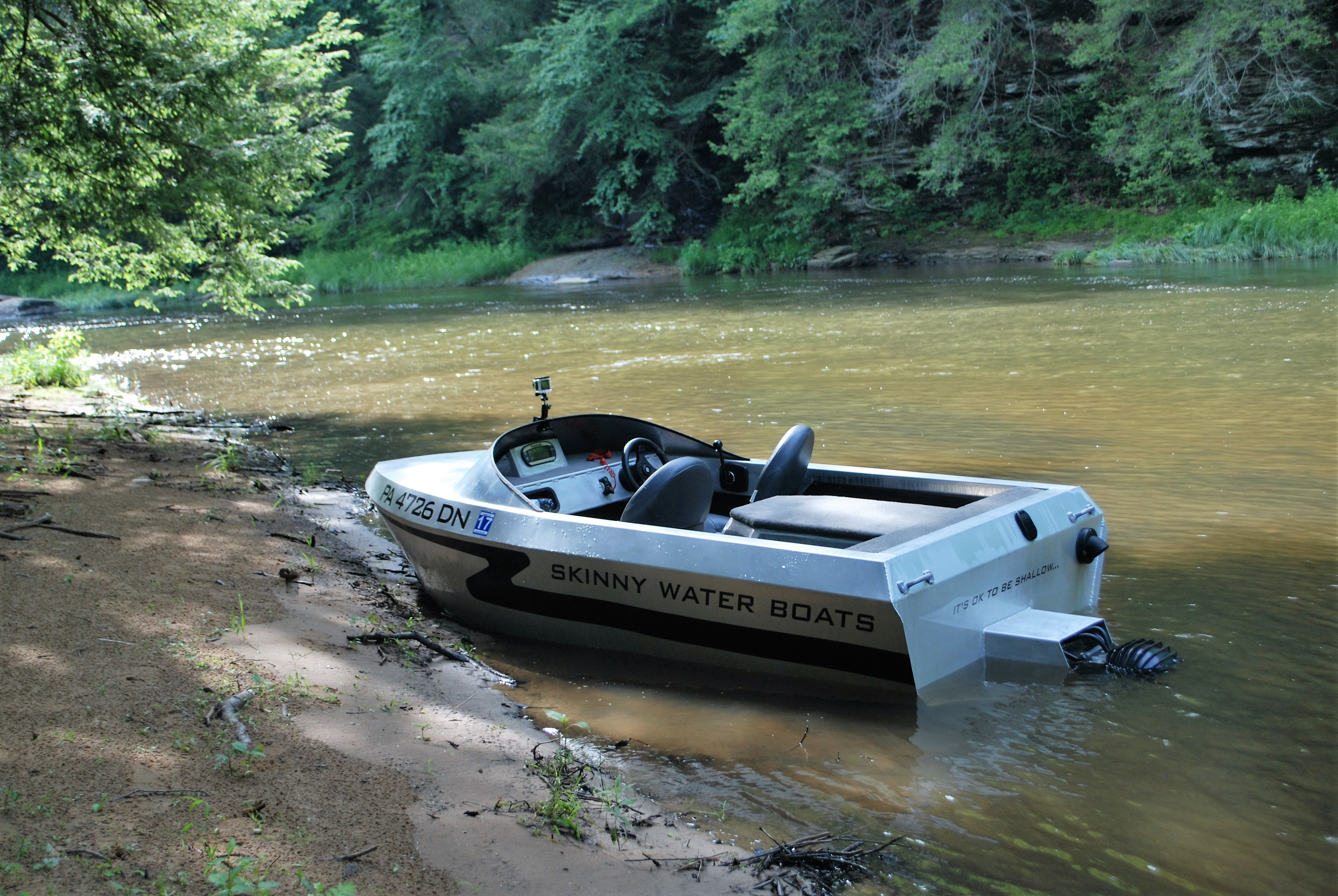 Small Jet Boats >> Skinny Water Boats Compact Mini Aluminum Jet Boats